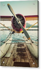 Seaplane Dock Acrylic Print by Shaunl