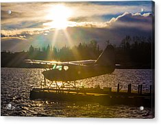 Seaplane Sunset Acrylic Print by Charlie Duncan
