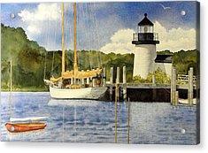 Seaport Setting Acrylic Print by Lizbeth McGee