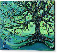 Searching Branches Acrylic Print by RK Hammock