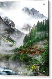 Searching For A Steller's Jay Near Aspen Colorado. Acrylic Print by Ric Soulen