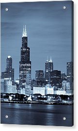 Acrylic Print featuring the photograph Sears Tower In Blue by Sebastian Musial
