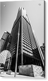 Sears Willis Tower Chicago Black And White Picture Acrylic Print by Paul Velgos