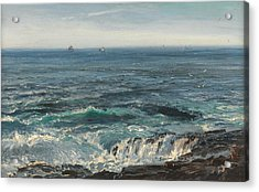 Seascape 1877 Acrylic Print by Henry Moore