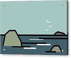 Seascape 3 Acrylic Print by Kenneth North