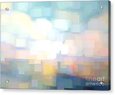 Seascape Abstracted Acrylic Print by Karen Francis