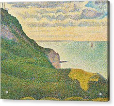 Seascape At Port En Bessin Normandy Acrylic Print by Georges Seurat
