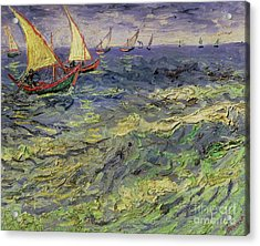 Seascape At Saintes-maries 1888 Acrylic Print by Vincent van Gogh