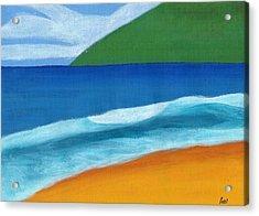 Seascape Acrylic Print by Bav Patel