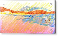 Seascape Limassol Cyprus Acrylic Print