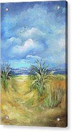 Seascape Print Acrylic Print by Nancy Gorr