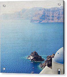 Acrylic Print featuring the photograph Seascape - Santorini by Lisa Parrish