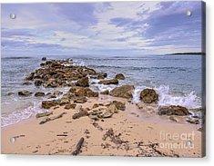 Seascape With Rocks Acrylic Print