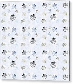 Seashell Pattern Acrylic Print by Christina Rollo