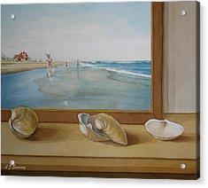 Seashells By The Jersey Shore Acrylic Print by Lauren Sweeney