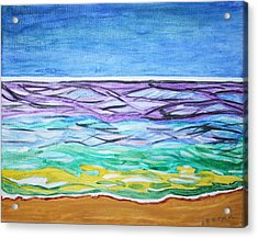 Acrylic Print featuring the painting Seashore Blue Sky by Stormm Bradshaw