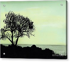 Acrylic Print featuring the drawing Seashore Silhouette by D Hackett