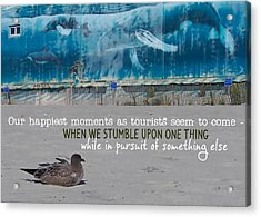 Seaside Art Gallery Quote Acrylic Print by JAMART Photography