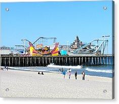 Seaside Casino Pier Acrylic Print by Neal Appel