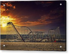 Seaside Coaster Acrylic Print by Kim Zier