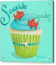 Seaside Cupcakes Acrylic Print by Catherine Holman