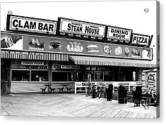 Seaside Dining Acrylic Print by John Rizzuto