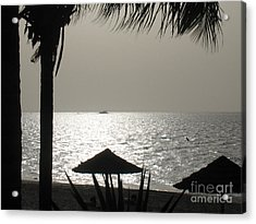 Acrylic Print featuring the photograph Seaside Dinner For Two by Patti Whitten