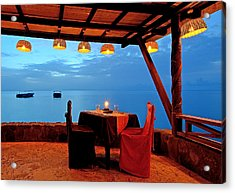 Romantic Dinner For Two - Saint Lucia Acrylic Print by Brendan Reals