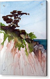 Acrylic Print featuring the painting Seaside by Ed  Heaton