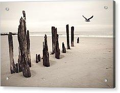 Seaside Acrylic Print by Gary Heller