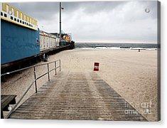 Seaside Heights Beach Acrylic Print by John Rizzuto