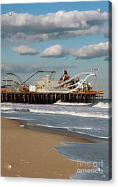 Seaside Heights Roller Coaster 2 Acrylic Print by Sami Martin