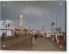 Seaside Heights Storm Acrylic Print by Joann Renner
