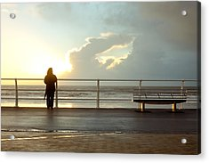 Seaside Person Acrylic Print