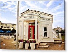 Seaside Post Office Acrylic Print by Scott Pellegrin