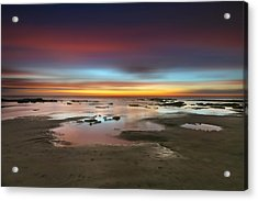 Seaside Reef Sunset 14 Acrylic Print by Larry Marshall