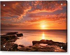 Seaside Reef Sunset 15 Acrylic Print by Larry Marshall