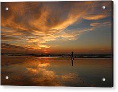 Acrylic Print featuring the photograph Seaside Reflections by Christy Pooschke