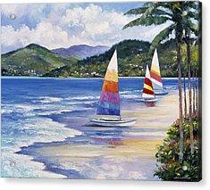 Seaside Sails Acrylic Print by John Zaccheo
