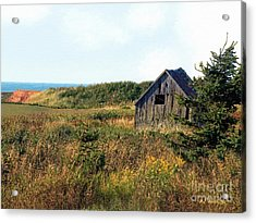 Seaside Shed - September Acrylic Print by RC DeWinter