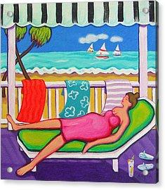 Seaside Siesta Acrylic Print by Rebecca Korpita