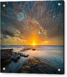 Seaside Sunset - Square Acrylic Print
