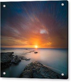 Seaside Sunset 2- Square Acrylic Print