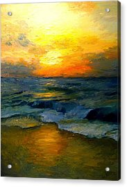 Seaside Sunset Acrylic Print by Gail Kirtz