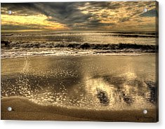 Acrylic Print featuring the photograph Seaside Sunset by Julis Simo