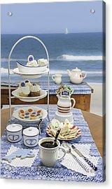 Seaside Tea Party Acrylic Print by Karen Stephenson