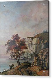 Acrylic Print featuring the painting Seaside by Tigran Ghulyan