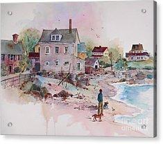 Seaside Village Acrylic Print by Sherri Crabtree
