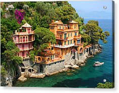 Seaside Villas Acrylic Print by Dan Breckwoldt