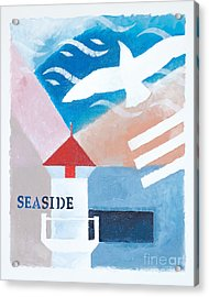 Seaside Whiteborder Acrylic Print by Lutz Baar